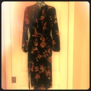 Bobeau floral wrap dress.